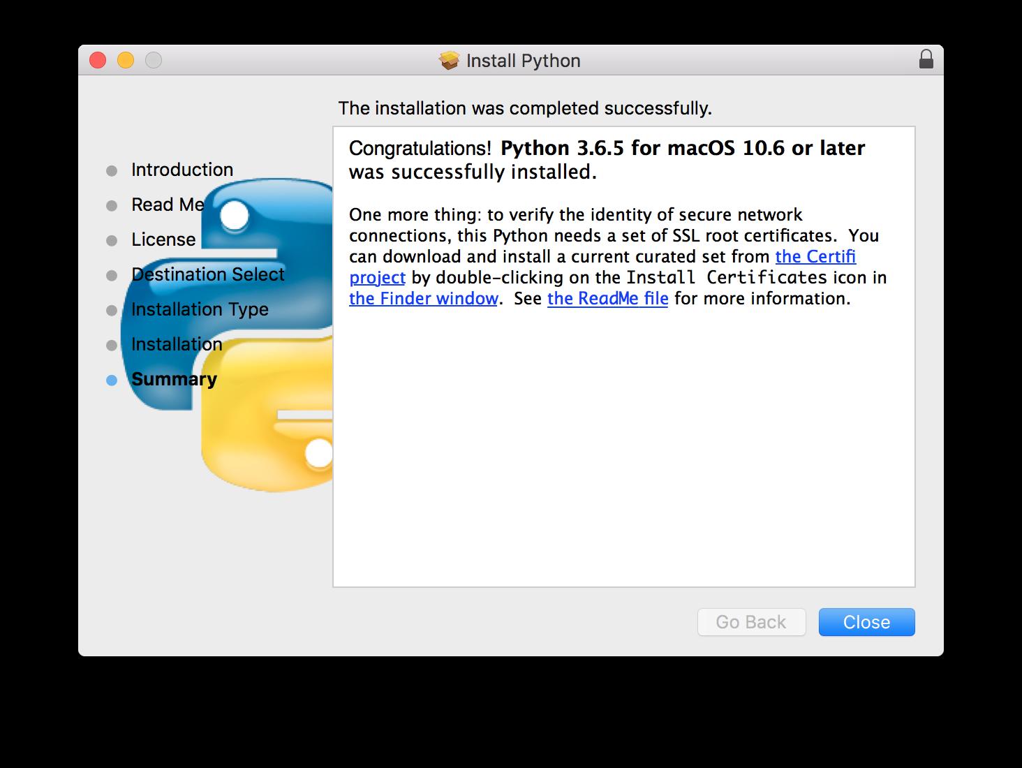 Install Fingerprint Python